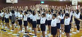 美和東小学校での姿勢教室 ≫詳しくはこちら