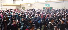 姿勢改善教室 in 千葉県市川市平田小学校