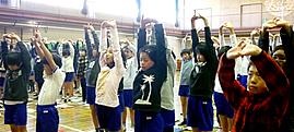 姿勢改善教室 in 千葉県市川市富美浜小学校