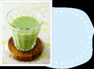 牛乳(豆乳)×こどもフルーツ青汁