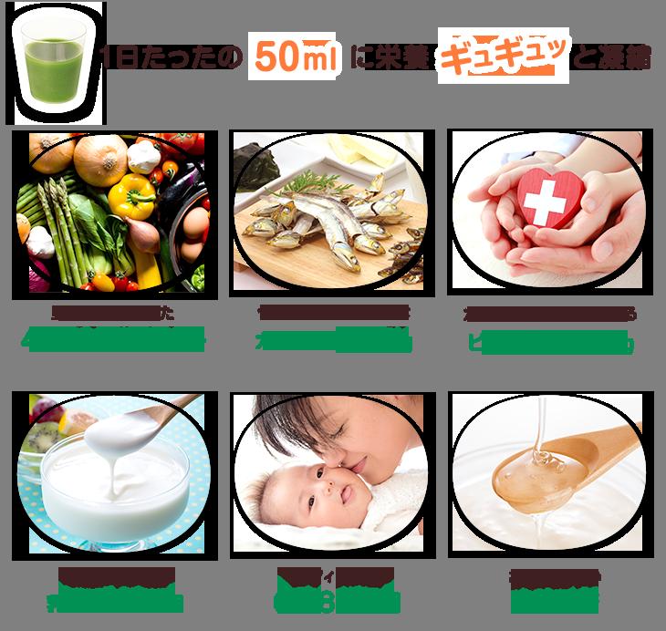 お子様の健康をサポートする 栄養成分